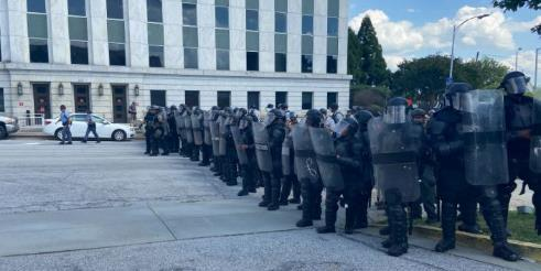 An Atlanta protester describes what it was like to be arrested while peacefully protesting