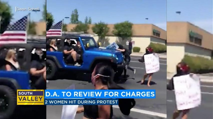 D.A. to review for charges after protestor hit by Jeep at Visalia march